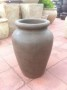 Small urn in olive